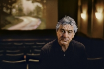 00735_08, 0735_08; Actor Robert De Niro in his screening room in Tribeca, Tribeca, New York, NYC, 2010, USA,