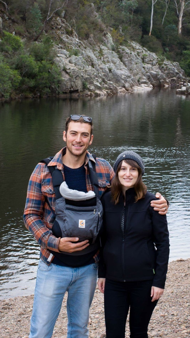 bushwalking with a newborn, hiking with a newborn, ergo baby carrier