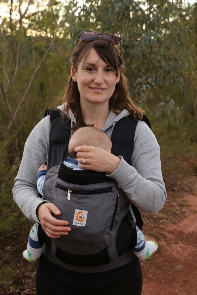hiking with a baby, hiking with a baby carrier, ergo baby 360 carrier